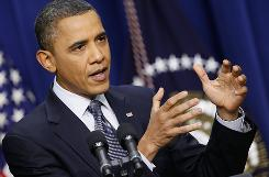 President Obama fields questions about his budget proposal during a press conference on Tuesday.
