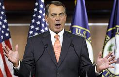 House Speaker John Boehner said Thursday that Democrats are threatening a government shutdown.