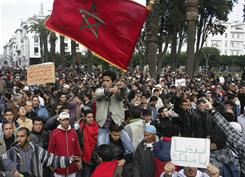 Thousands of people are marching in Morocco's capital to demand a new constitution that would bring greater democracy in the African kingdom.