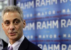 Chicago mayoral front-runner Rahm Emanuel has raised more than $10 million for his campaign. Residents vote Tuesday to replace Mayor Richard Daley.