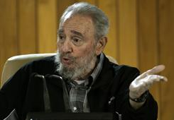 Cuba's Fidel Castro met last week with a group of Cuban and foreign intellectuals who attended Havana's International Book Fair. Castro says Libya may be invaded by NATO troops.