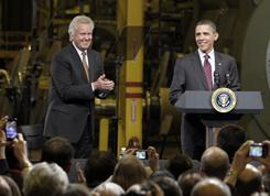 General Electric's Jeffrey Immelt and President Obama visit the GE plant in Schenectady, N.Y., on Jan. 21. Immelt plans to run the jobs council like a business.