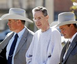 Warren Jeffs, leader of the Fundamentalist Church of Jesus Christ of Latter Day Saints, shown in custody in December.