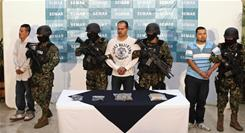Sergio Antonio Mora, center, is an alleged member of the Zeta cartel. 