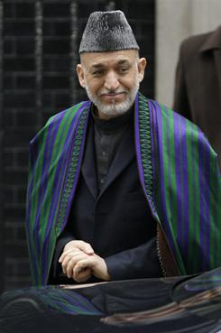 Afghan President Hamid Karzai in London earlier this month.
