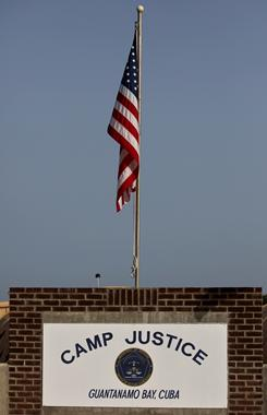 The Camp Justice compound is the site of U.S. military tribunals at Guantanamo Bay. President Obama lifted a two-year freeze Monday on military trials for detained terror suspects.