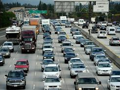 Los Angeles is the most congested city in the U.S., passing the New York area.