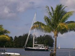 The Quest yacht that belonged to Jean and Scott Adams, who were killed by Somali pirates on Feb. 22.