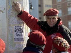 Guardian Angels founder Curtis Sliwa sends the group out into Camden, N.J., on Jan. 16 to make up for the smaller police presence there due to layoffs.