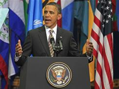 President Obama addresses actions in Libya on a five-day tour of Latin America.