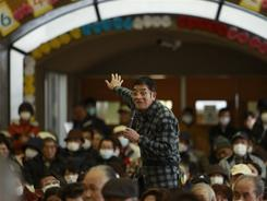 A resident airs his concerns about the impact of radiation exposure from the Fukushima nuclear facilities Tuesday.