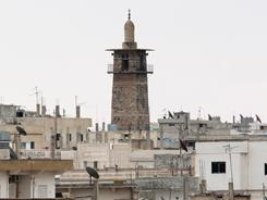 Daraa's Omari mosque as Syrian security forces fired on anti-regime protesters nearby.