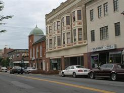 Queen Street, one of the main thoroughfares in downtown Martinsburg, West Virginia.
