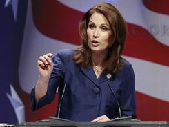 Rep. Michele Bachmann, R-Minn., addresses the Conservative Political Action Conference on Feb. 10 in Washington.
