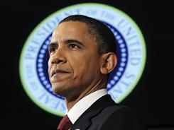 In Monday's national address, President Obama vows to hand over primary responsibility of Libya's intervention to NATO.