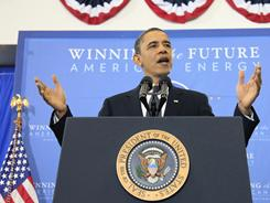 President Obama talks about America's energy security on Wednesday at Georgetown University in Washington.