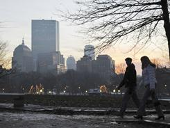 About two-thirds of young adults who live in Boston's city center have at least a four-year degree.