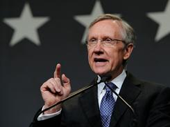 "Senate Majority Leader Harry Reid says, ""We've agreed on a number. Let's work on getting something done."""