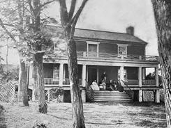 Robert E. Lee surrendered his Confederate Army to Union Gen. Ulysses S. Grant at the home of Wilmer and Virginia McLean. (To avoid war, the McLeans had fled their previous home, in Bull Run, where one of the first battles took place.)