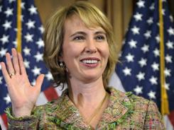 Rep. Gabrielle Giffords, D-Ariz., is seen in a photo from her swearing-in in Washington on Jan. 5.
