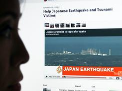 Within days of the Japanese earthquake and tsunami, 64% of blog links, 32% of Twitter news links and the top 20 YouTube videos carried news and information about the crisis in Japan.