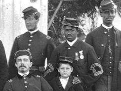 Officers of 4th U.S. Colored Infantry at Fort Slocum in Washington, D.C., in 1865.