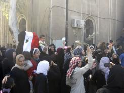 Syrian protesters call for reform in President Bashar Assad's regime on Friday.
