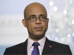 Haiti's President-elect Michel Martelly on a visit to the U.S. State Department.