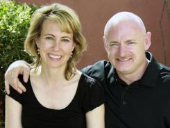 Rep. Gabrielle Giffords and her husband, astronaut Mark Kelly. Giffords is recovering from injuries sustained in a Jan. 8 shooting.