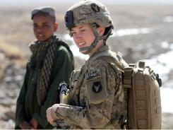 Female soldiers are particularly vital in this war. Most Afghan women will not talk to a male stranger. So if an American patrol wants to glean information and goodwill from local women, it must include a female soldier.