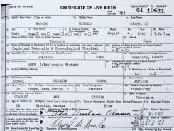 The White House handed out a copy of the long form of President Obama's birth certificate Wednesday morning.