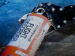 This photo provided Sunday shows the flight data recorder from the 2009 Air France flight that went down in the mid-Atlantic.