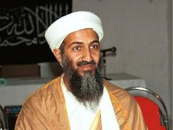 Osama bin Laden in 1998 at a meeting at an undisclosed location in Afghanistan, according to the source. This photo was offered to The Associated Press on Sept. 22, 2001, by a Pakistani photographer who wished to remain anonymous.
