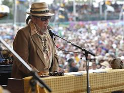 Dr. John performs at the Louisiana Jazz and Heritage Festival in New Orleans on Sunday, May 1, 2011.