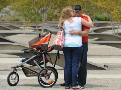 Brian Ball, his wife, Ashley, and son Padraig were drawn to visit the Pentagon Memorial after hearing of Osama bin Laden's death. Brian's friend Daniel Caballero was killed when a plane struck the Pentagon on Sept. 11.