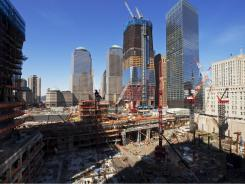 Ground Zero: A decade after 9/11, new structures are slowly rising in New York.