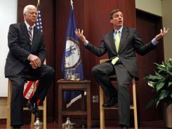 Gang of Six leaders, Sens. Saxby Chambliss, left, and Mark Warner, right, hope to spur bipartisan action on deficit negotiations.