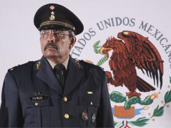 Retired Army Gen. Carlos Bibiano Villa Castillo looks on last month during his swearing-in ceremony as Mexico's Public Security Secretary in Chetumal, Mexico.