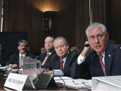 Oil executives testify on Capitol Hill on Thursday.