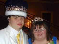 Loveland High students Drew Anderson, 18, and Toni Alten-Crowe, 20, were elected prom king and queen.
