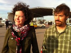 American reporters Clare Morgana Gillis and James Foley leave Libya on Thursday.