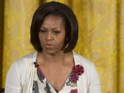 First lady Michelle Obama will address roughly 1,000 graduating cadets and their families at West Point's annual graduation family banquet.