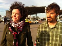 American reporters Clare Gillis, left, and James Foley were all smiles in Raj Adir, Tunisia, on Thursday.