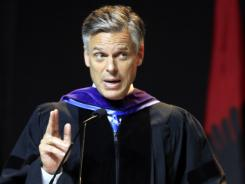 Possible 2012 presidential hopeful, former Republican governor Jon Huntsman of Utah gives a commencement  address at Southern New Hampshire University on Saturday.