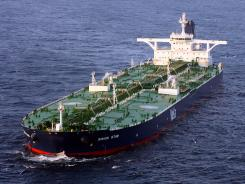 Supertankers like this one have few defenses against terrorist hijackers like those envisioned by Osama bin Laden, security experts said Saturday.
