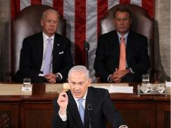 Israeli Prime Minister Benjamin Netanyahu addresses Congress Tuesday on Capitol Hill.