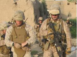 Marines patrol in Musa Qala, a village in Helmand province, Afghanistan.