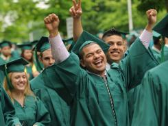 George Mason graduated 7,392 students in gowns made from plastic bottles.