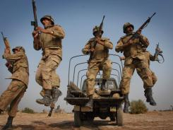 Pakistani soldiers take part in a training exercise last year in preparation for battles with Taliban forces.
