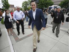 Mitt Romney, pictured Friday in Des Moines, has the advantage of having run a national campaign.